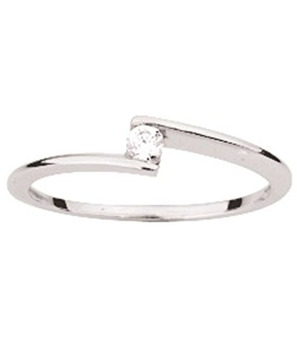 OR by Stauffer - Bague or gris 750/1000, diamant by Stauffer