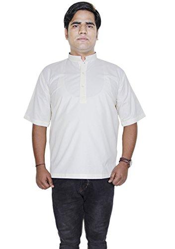 mens-cotton-shirt-short-kurta-indian-clothing-fashion-yoga-dress-size-xl