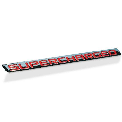 Badge Billet (Billet Chrome Supercharged Badge (Red))