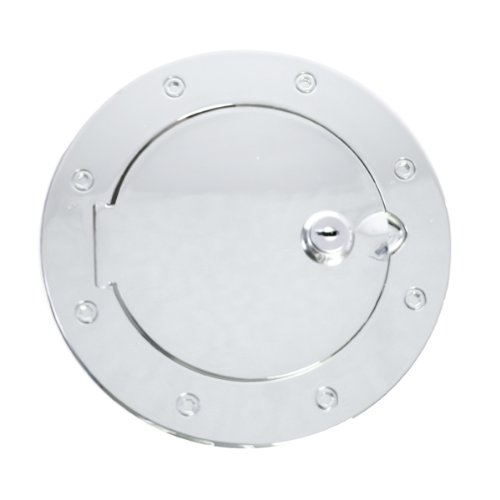 Jeep Tj Gas Tank Cover - Rugged Ridge 11425.07 Billet Style Polished Aluminum Locking Gas Door Cover