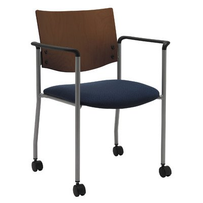 UPC 810389024661, Evolve Guest Chair Frame Finish: Chocolate, Seat Finish: Brown