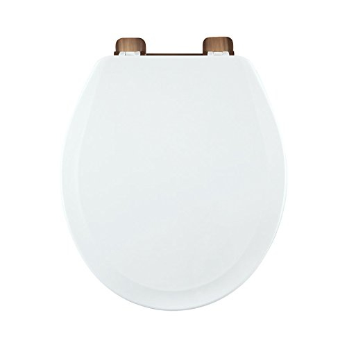 Centoco 700RO-001 Wood Round Toilet Seat with Closed Front, White