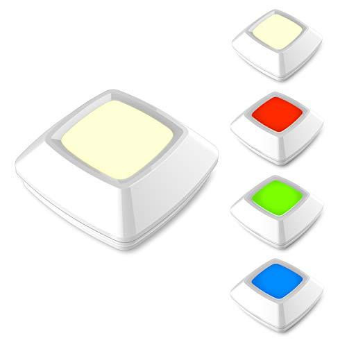 HONWELL RGB Puck Lights, LED Closet Lights, Push Light, Battery Powered Lights, Touch Night Lights, Wireless Under Cabinet Kitchen Lighting, Stick on Lights, Under Counter Lighting by HONWELL (Image #7)