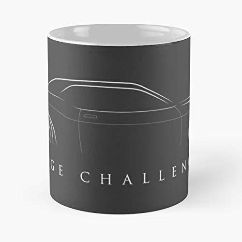 Challenger Muscle Car Minimalist - Coffee Mug 11 Oz Funny Gift