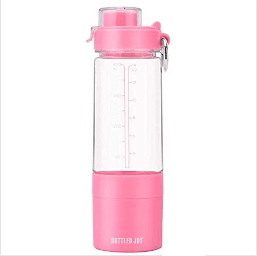 BOTTLED JOY Protein Shaker Bottle with 2-Layer Twist and Lock Storage Container - Tritan Lady Sports Protein Mix Fit Shaker Water Bottle 480ml 16oz 16 Ounce