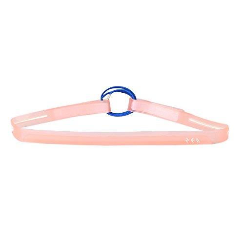 Sports Sweatband Outdoor Marathon Silicone Sweatband (Pink) - 3