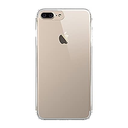 best service ed46d 21a22 SBMS Silicone Apple iPhone 8 Plus Transparent Rock Back Cover (2x8.4x15.5cm)