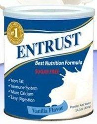 Entrust Best Nutrition Formula Vanilla Flavor 14.1 oz - Case of 6 Cans