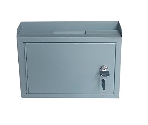 FixtureDisplays Metal Wall-Mountable Interoffice Mailbox Donation Box 10x7.2x3'' 15211-NF by FixtureDisplays (Image #2)
