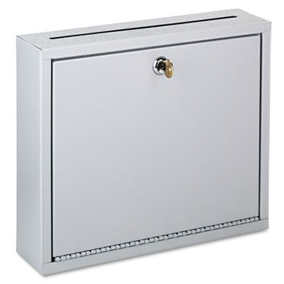 - Wall-Mountable Interoffice Mailbox, 12w x 3d x 10h, Platinum, Sold as 1 Each
