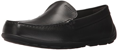 Geox New Fast BOY 2 Moccasin, Black, 26 M EU Toddler (9 US) - Geox Toddler Shoes