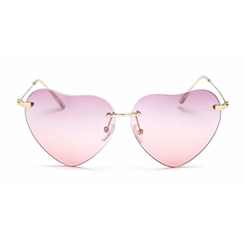 G&T 2016 New Girls Fashion Personality Cute Heart-Shaped Lens Uv Protection Beach - Salt Review Eyeglasses