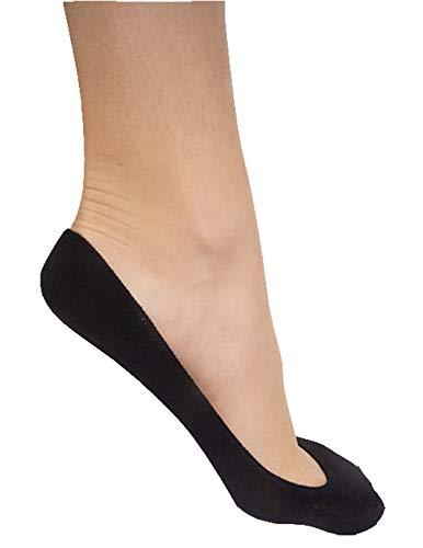 Stomper Joe 4 Pack Premium Cotton No Show Socks for Women, Non Slip, Low Cut, Black, XS from StomperJoe