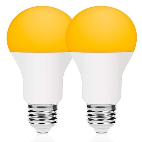 Dusk Till Dawn Bug Light Bulbs LED Bug Light Bulbs Outdoor with Auto On/Off Light Bulb LED 2 Pack from BrightWize - - Amazon.com