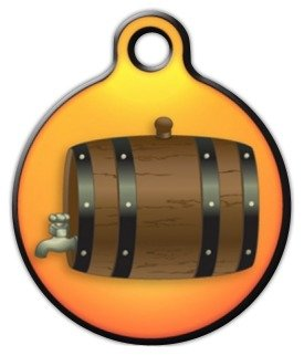 Saint Bernard Barrel - Custom Pet ID Tag for Dogs and Cats - Dog Tag Art - LARGE SIZE