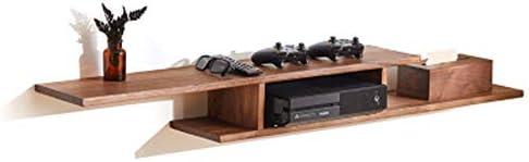 オールマウントメディアコンソール、TVウォールシェルフフローティング、ケーブルボックス/ルーター/リモートコントロール/DVDプレーヤー/ゲーム