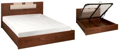 Walnut storage bed double  sc 1 st  Amazon UK & Walnut storage bed double: Amazon.co.uk: Kitchen u0026 Home