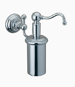 (Rohl WD850PAPC, Rohl Soap Dispensers, Wall Mounted Lotion Dispenser - Polished)