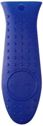 AmazonBasics Silicone Hot Skillet Handle Cover Holder, Blue