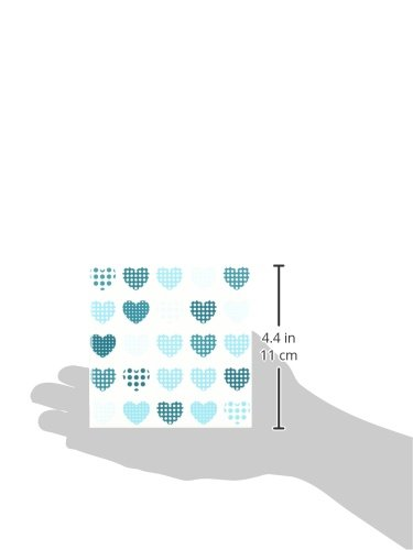3dRose ct/_176759/_1 Turquoise /& White Polka Dot Hearts in a Row Ceramic Tile 4