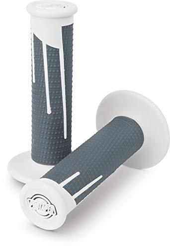 ProTaper White//Dark Grey Clamp-On Full Diamond Grips Pair for Most 2-Stroke and 4-Stroke Motocross Models 021690