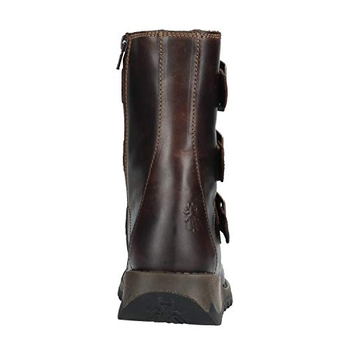 Brown Scop110fly Femme Fly Leather London Bottes Rug Dark Motardes YUFxvqwf