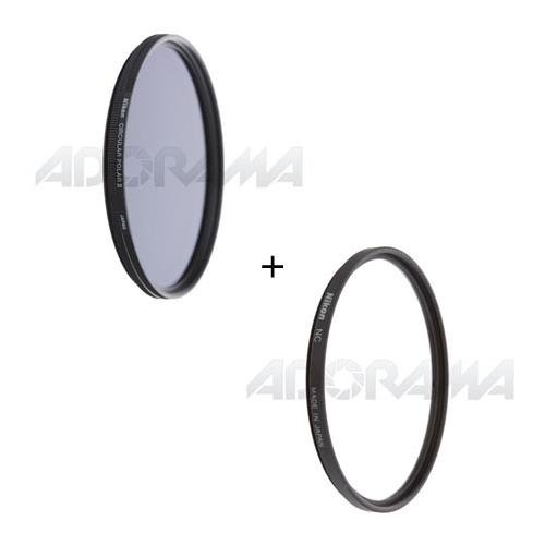 Nikon 77mm Filter Set, 77mm NC Neutral Clear Filter and 77mm Circular Polarizer II Thin Ring Multi-Coated Filter