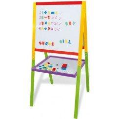 Tableau double face colore en bois - jeu educatif: Amazon.fr: Jeux ...