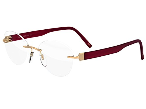 Silhouette Authentic Eyeglasses Since 1964 INSPIRE (gold scarlet 52mm-17mm-140mm)