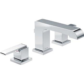 Delta 3553LF Vero 2-Handle Widespread Bathroom Faucet with
