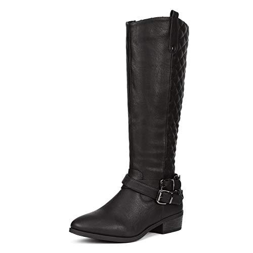 (DREAM PAIRS Women's BAR Black Knee High Boots Size 6 B(M) US)