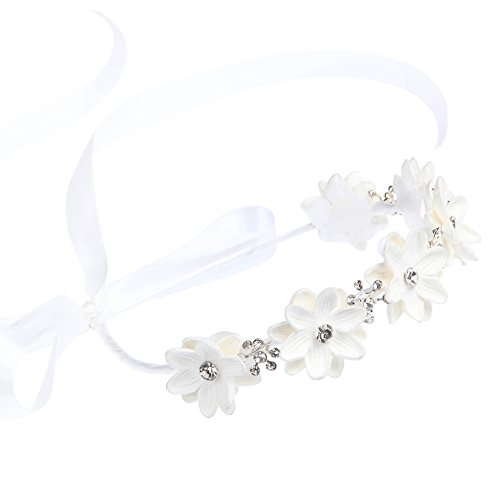 FAYBOX Flower Girls Elegant Headband Wedding Floral Hairbands Accessories