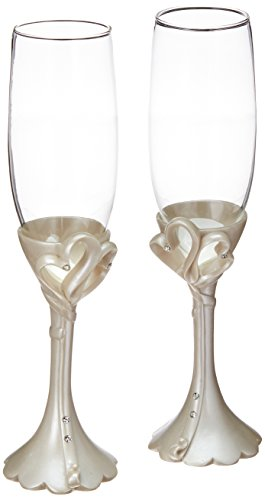 Fashioncraft Interlocking Hearts Design Toasting (Design Toasting Flutes)
