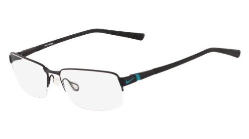 Nike Eyeglasses 6053 003 Black/Turbo Green Demo 58 17 by NIKE