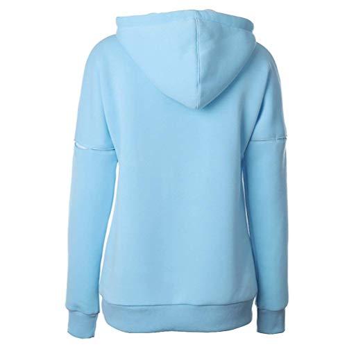Felpe Moda Con Laterali Streetwear Sweatshirt Sciolto Donna Caldo Casual Autunno Manica Abbigliamento Felpa Tasche Eleganti Cappuccio Termico Hoodie Hellgrau Lunga Invernali Swag ng00qdSOU