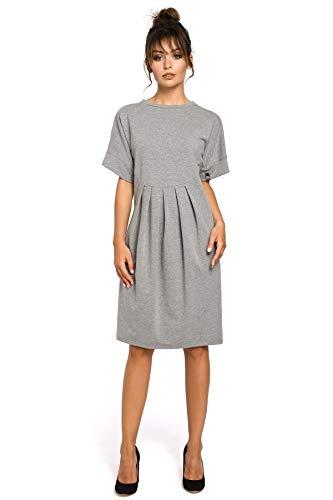 Grau mit Einschlägen Grau Clea Einschlägen mit Kleid mit Einschlägen Clea Grau Kleid Clea Kleid xUqIOwnAS5