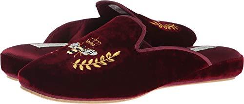 Patricia Green - Velvet Slide - Beatrice Bee Crest - Burgundy - Size 8 for $<!--$68.00-->