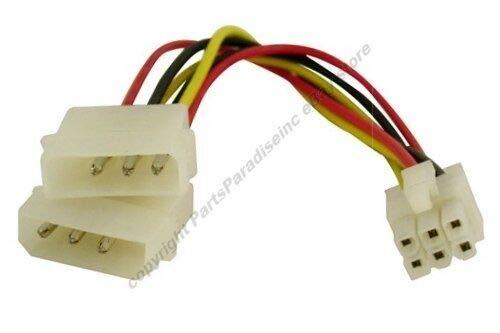PCI Express/AGP Pro~Dual 4pin Molex Male Power Adapter Cable,PCIe/e Lot10 - Pci Express Agp