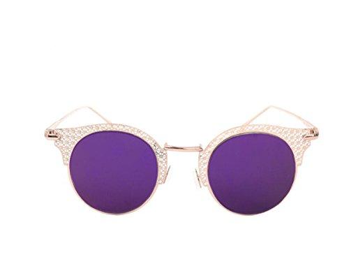 frame a Gafas Moda filmC4 talladas purple mujer MAIDIS de Gold callejeros sol Disparos de sol mano Gafas qAWB6n0Iw