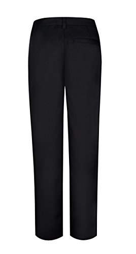 Bienzoe Boy's School Uniforms Stretchy Polyester Adjust Waist Dress Pants Black 10