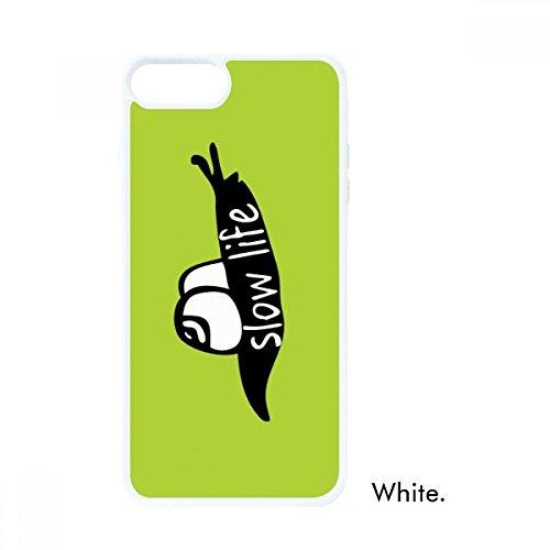 DIYthinker Funda para iPhone 7/8 Plus con diseño de Caracol de Color Negro y Silueta para Manzana, Color Blanco, iPhone 7/8...