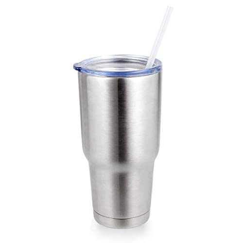 WULFUL 30oz Tumbler with Lids and Straws,Stainless Steel Vacuum Insulated Double Wall Travel Mug,Water Coffee Cup,For Home,Office,School - Works Great for Ice Drink,Hot Beverage