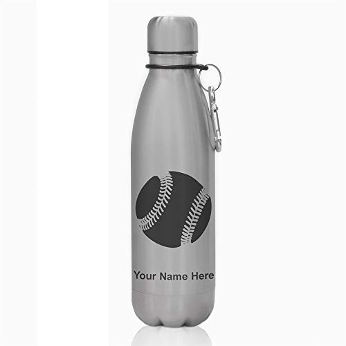Water Bottle - Baseball Ball - Personalized Engraving Included