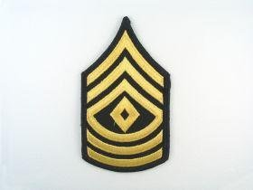 ASU Gold and Blue 1SG First Sergeant Sew On Army Rank Small - Pair by IRA GREEN