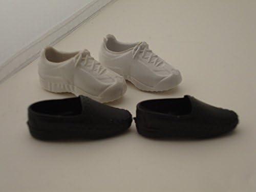 [해외]MeterMall 2 Pairs Mini Toy Shoes White Sports Shoes and Black Shoes for Ken Doll / MeterMall 2 Pairs Mini Toy Shoes White Sports Shoes and Black Shoes for Ken Doll