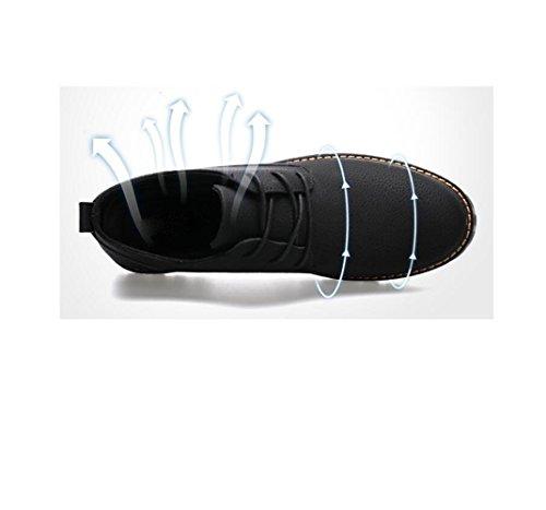 Colore Casual Scarpe Sportivi Affari Pelle in Tela Uomo Nastro Punta Tondo Stivali A Sandali Stagione Grey Morbido PrxRPHq