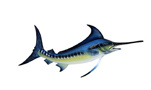 Blue Marlin Sculpture - MyEasyShopping Sport Fishing Big Catch Blue Marlin 18 Inch Resin Wall Decor Plaque - Animal Decorative Design for Home