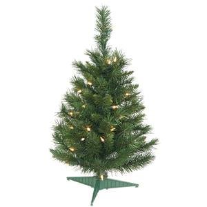 Vickerman Pre-lit Imperial Pine Tree with 35 Clear Dura-Lit Lights, 2-Feet, Green