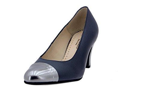 Calzado mujer confort de piel Piesanto 4203 zapato vestir cómodo ancho Persia Negro