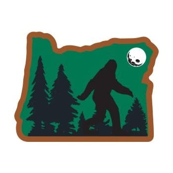 Heart sticker of oregon bigfoot 100 vinyl super adhesive used on all flat hard smooth clean surfaces outdoor indoor use waterproof weather